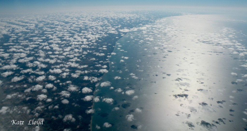 Mini clouds over Lake Michigan