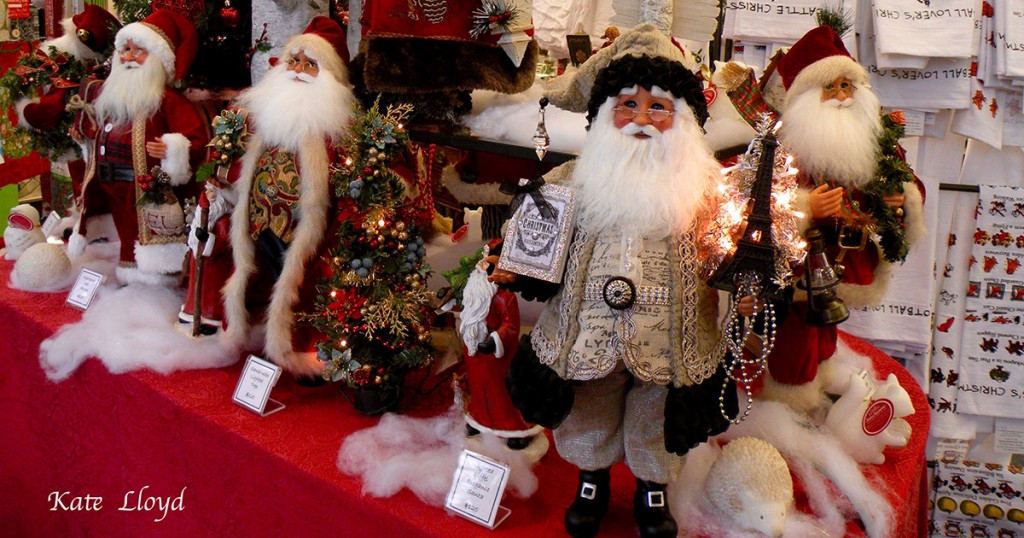 These jolly Santas beckoned me to shop in a small local store.