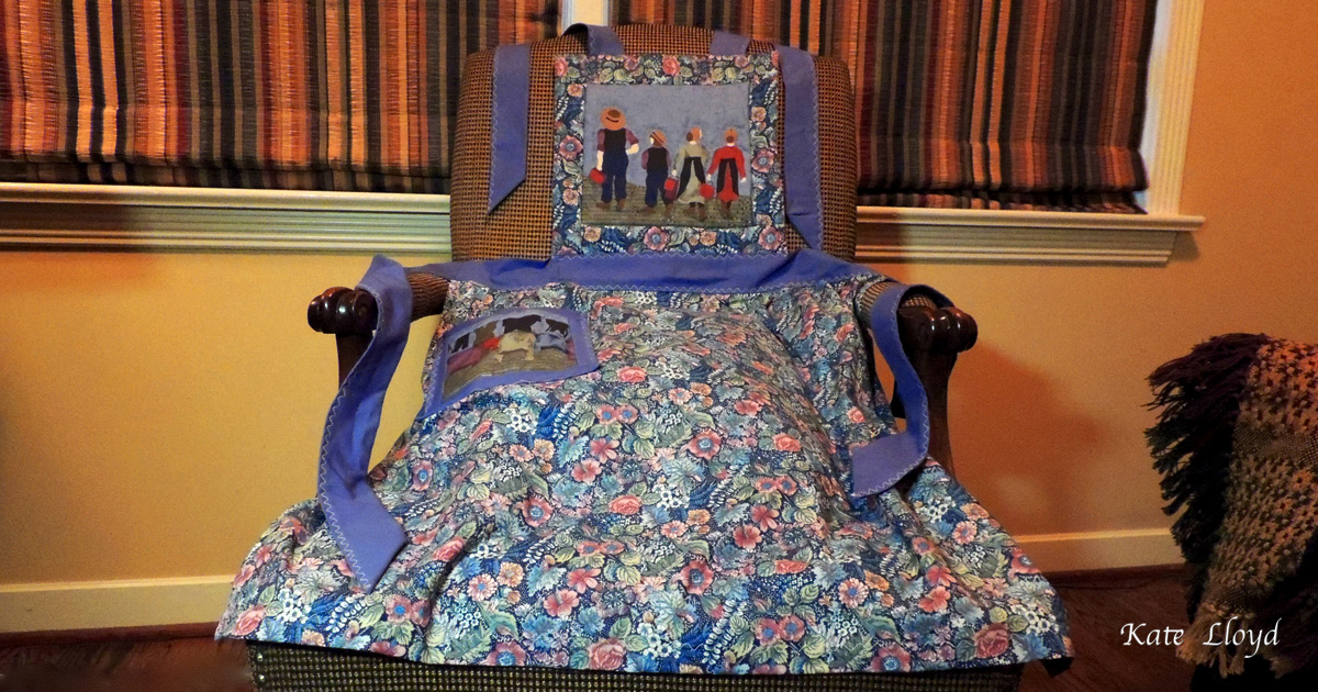 Apron is Amish-made, from Lancaster County, PA.