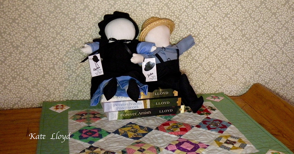 John and Lydia are Amish-made dolls from Lancaster. Are they courting?