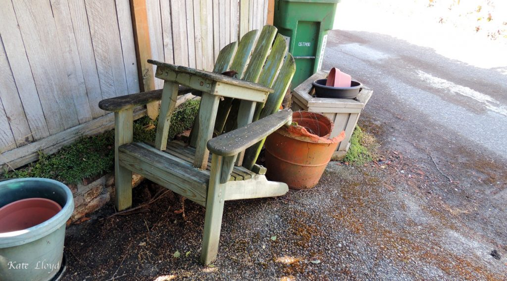 Doubtful the Adirondack chair's ( link: https://en.wikipedia.org/wiki/Adirondack_chair ) owner is going to refinish it