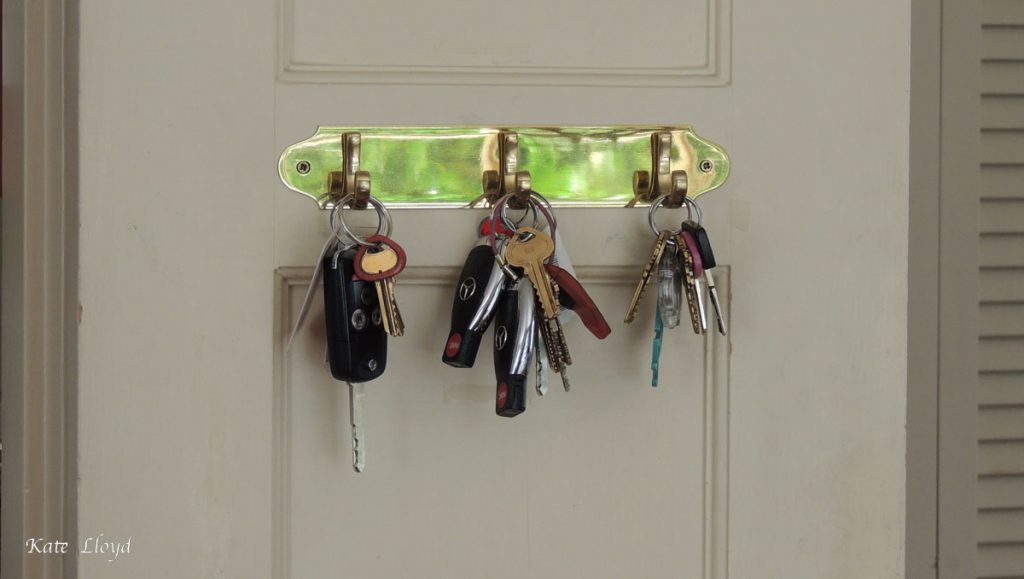 The trick is remembering to use our key rack!