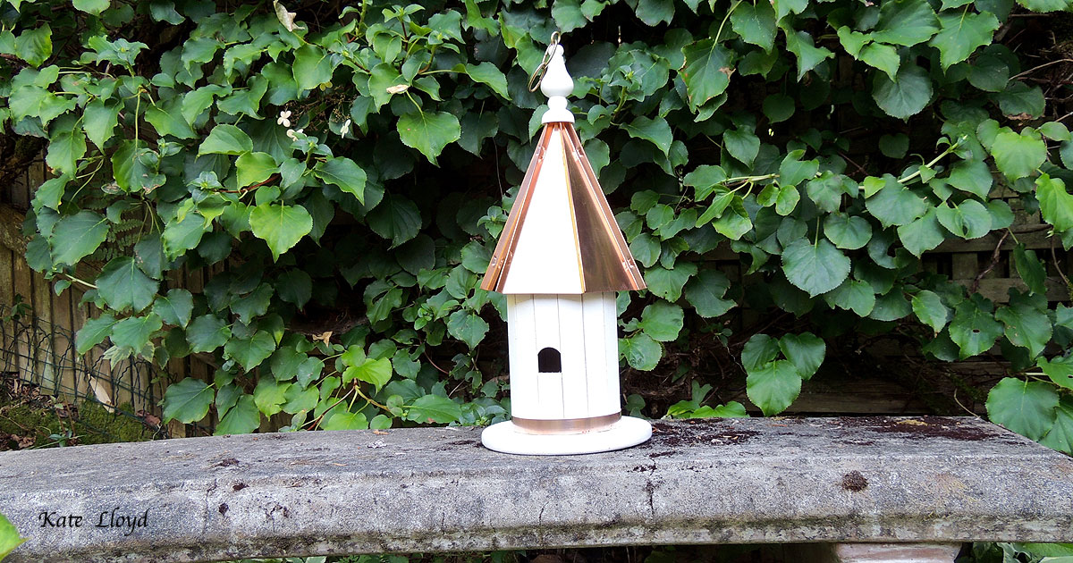"Tasteful 19"" Copper-roofed Amish-made Birdhouse from Lancaster County, PA."