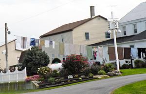 laundry and birdhouse