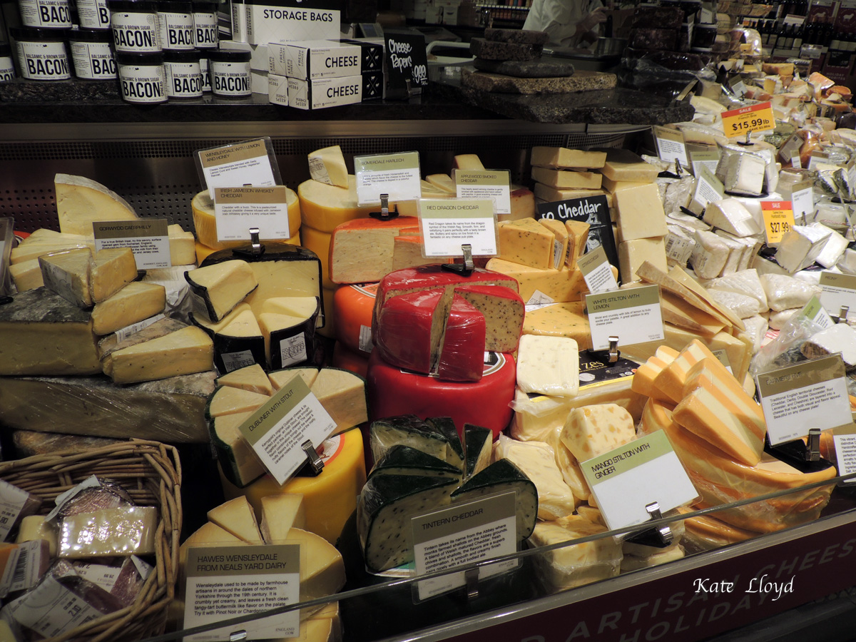The cheese display was hard to resist.