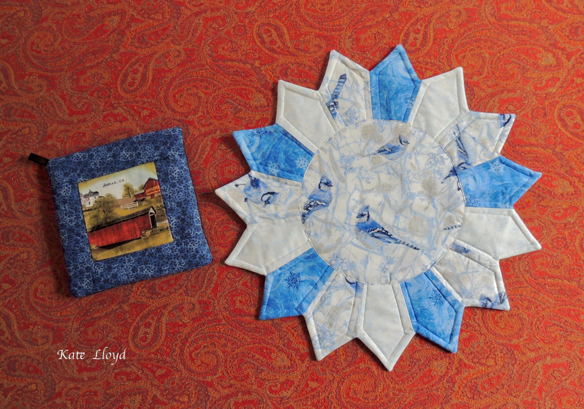 Amish-made table topper and fun hot-pad,