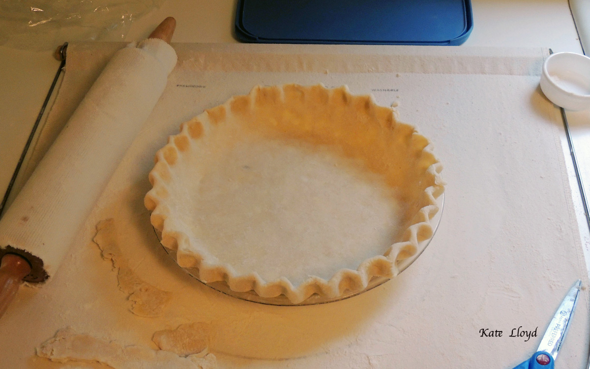 Homemade pie crusts taste the best! Our son made this from scratch.
