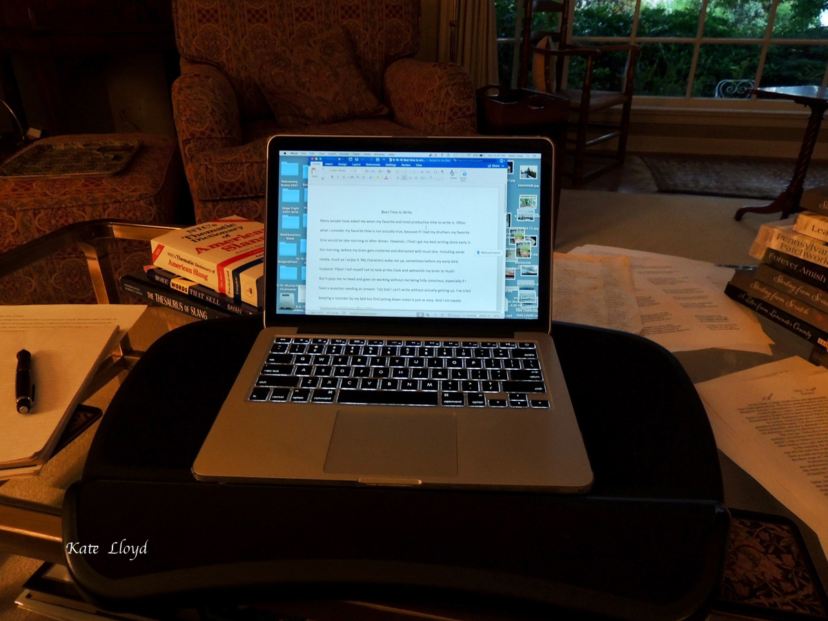 What would I do without my laptop? Write by hand the way Linda Byler does.