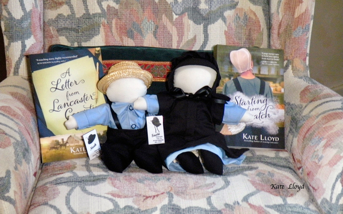 Enter to win Noah and Susie, two darling Amish-made dolls, and a signed copy of one of my novels.