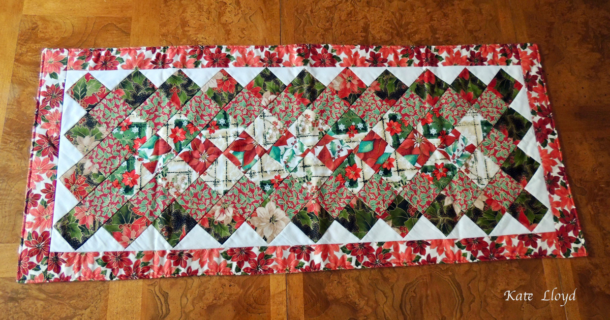 """Enter to win this gorgeous two-sided Amish-made 36"""" X 16"""" table-table runner made"""