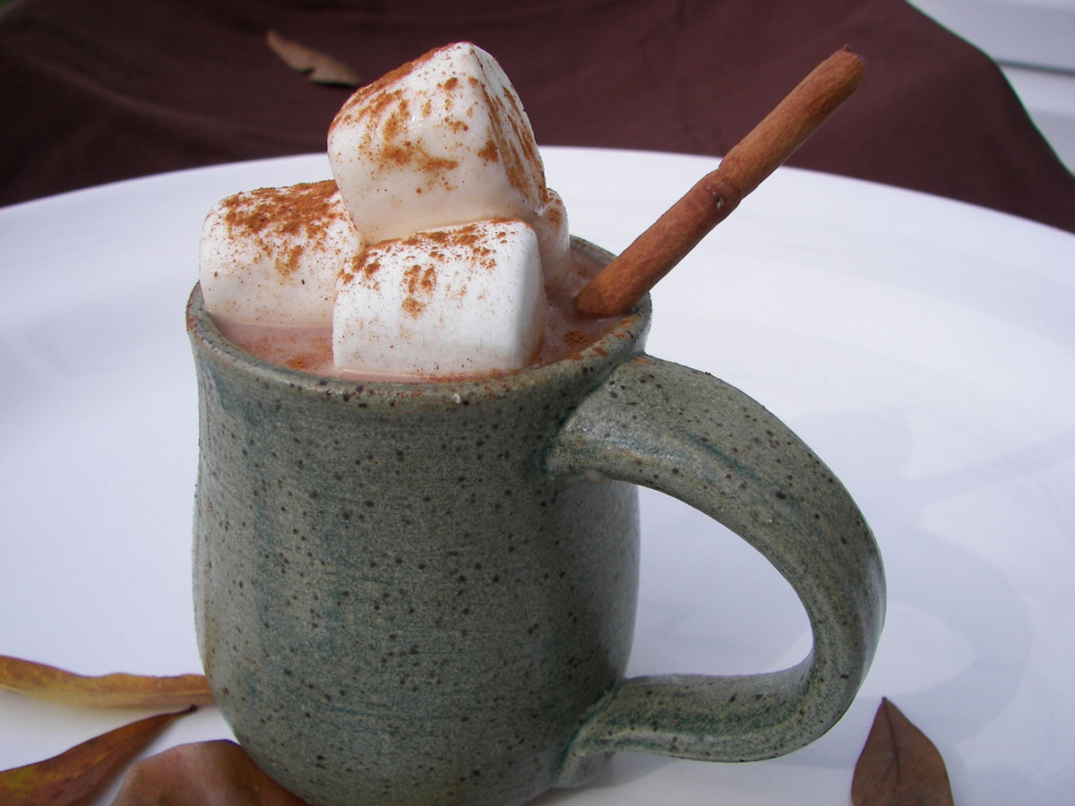 I'm sure I'd find comfort in this mug of hot chocolate.