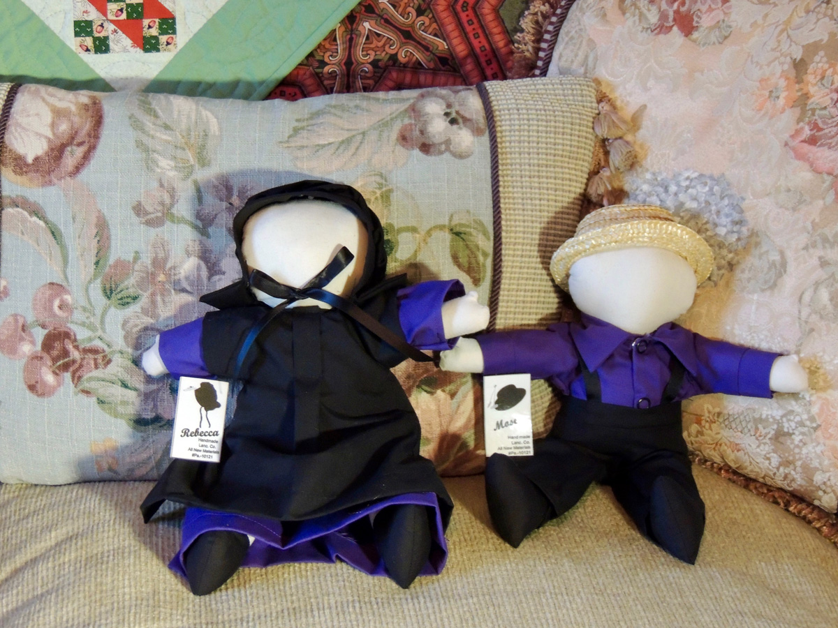 Kate Lloyd's December giveaway of 2 Amish made dolls