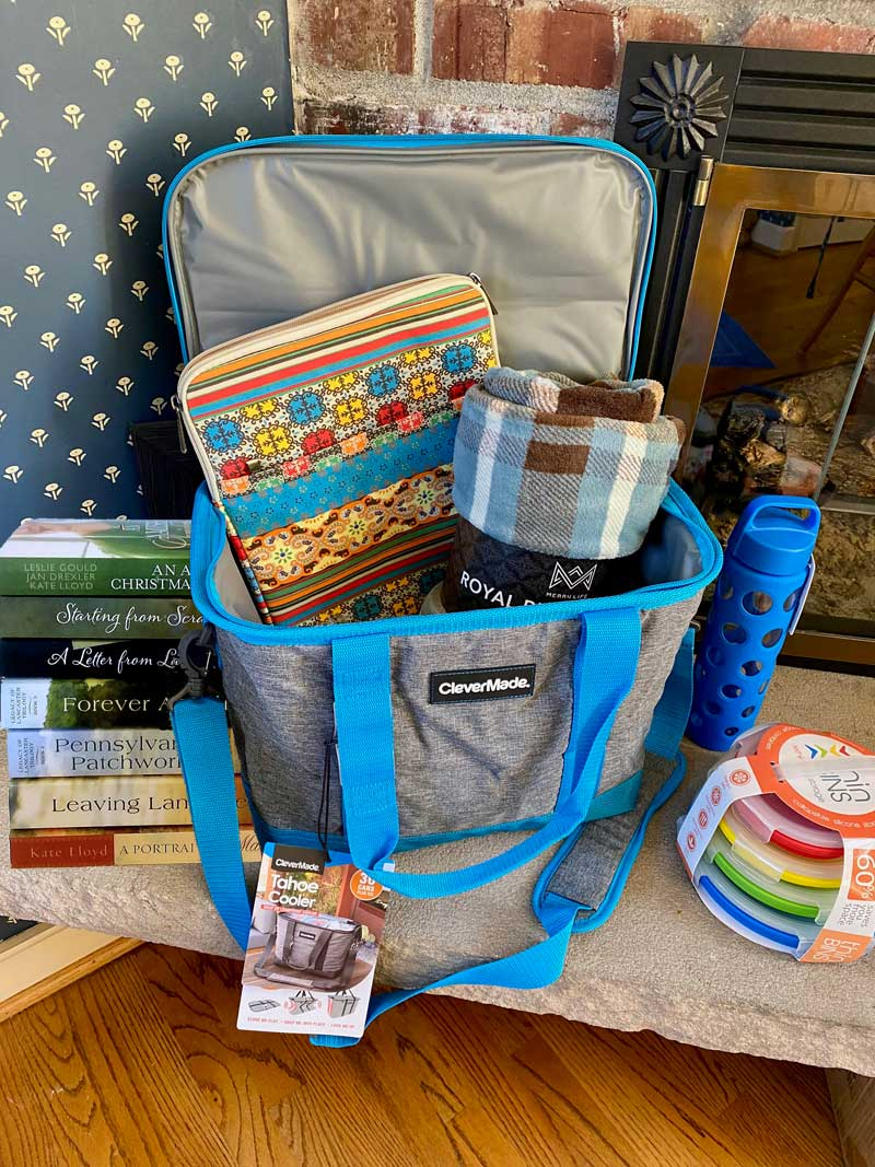 Enter to win this insulated stuffed with goodies for your next road trip.