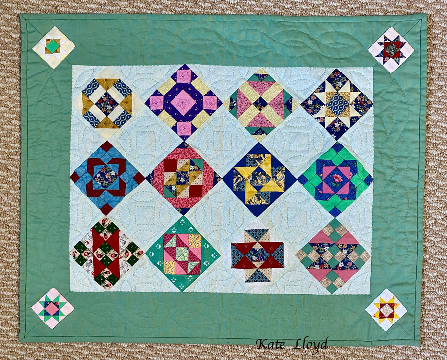 After years of honing her skills, my aunt made marvelous petite quilts.