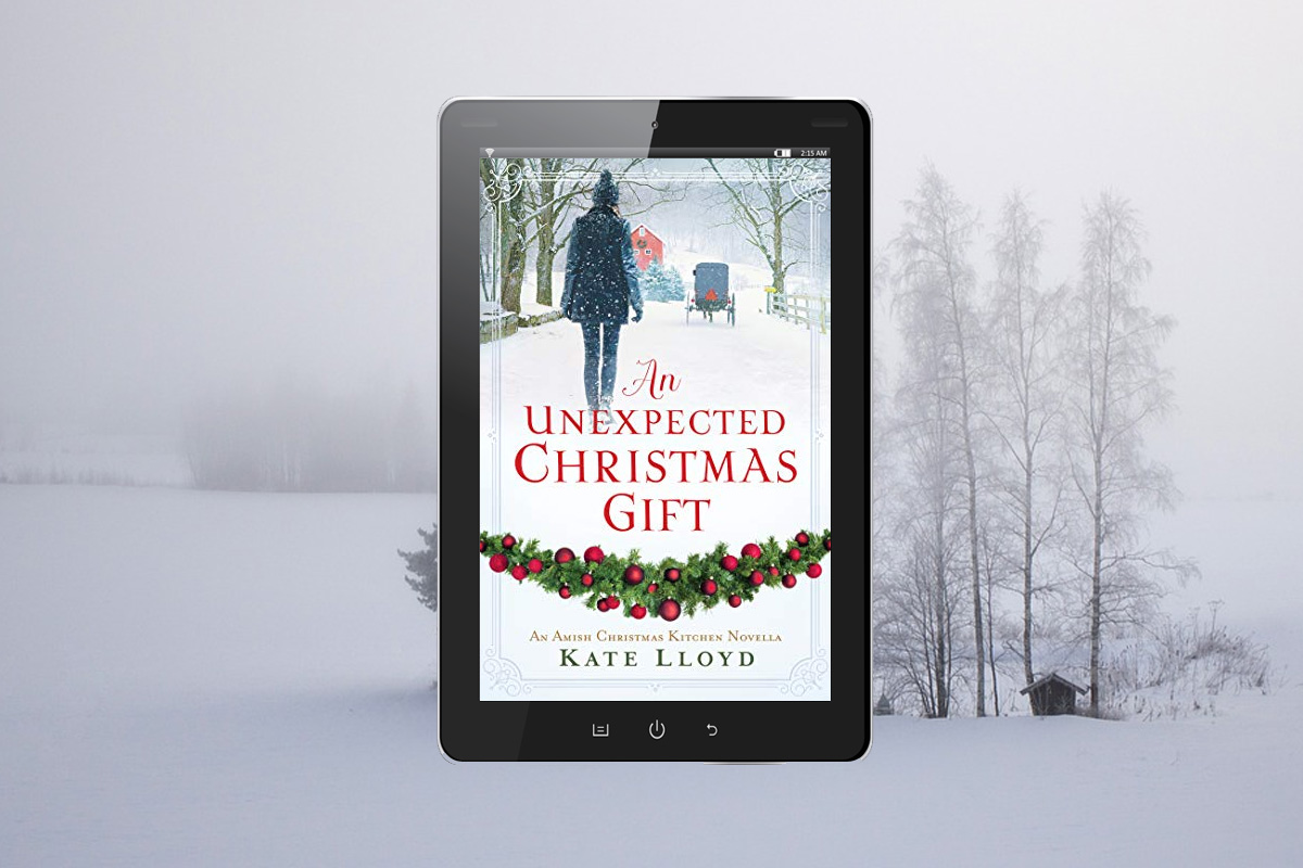 An Unexpected Christmas Gift's cover captures the cold of Pennsylvania in the winter