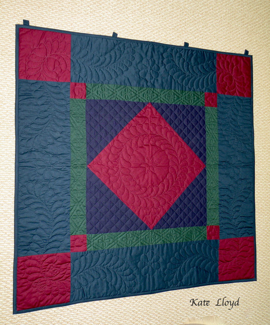 Outstanding quilt by Old Order Amish quilter Emma Stoltzfus of Lancaster County, PA.