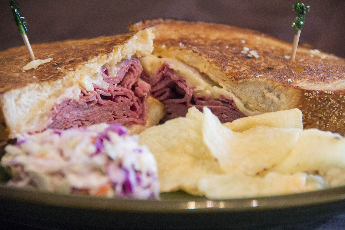 Although leftovers can get made into a sandwich, there is some debate in our household as to whether corned beef or pastrami goes into a Reuben!