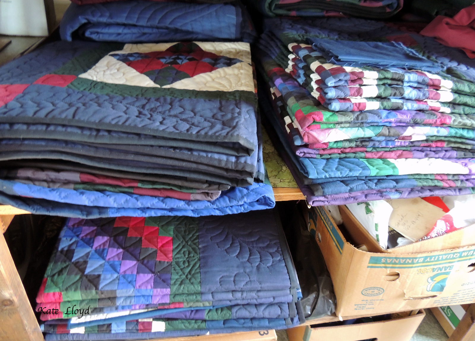 Fun to browse in an Old Order Amish friend's wholesale only quilt shop.